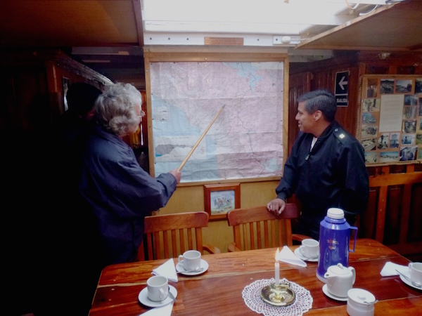 Showing the trek route