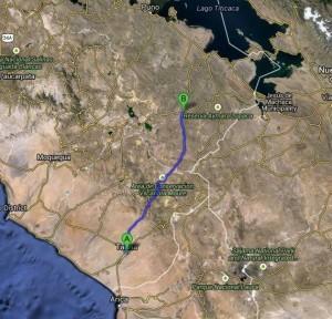 Yavari route map