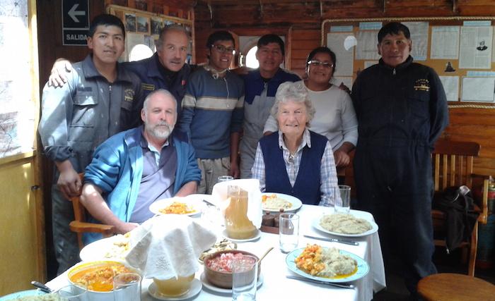 Ian Biles' farewell lunch of quinoa and chicken Puno-style
